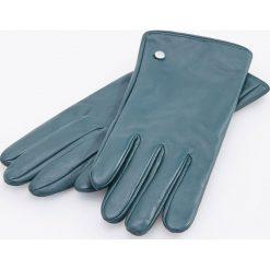 Skórzane rękawiczki - Turkusowy. Niebieskie rękawiczki damskie Reserved. Za 79.99 zł.