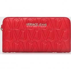 Versace Jeans - Portfel. Czerwone portfele damskie Versace Jeans, w paski, z jeansu. Za 369.90 zł.