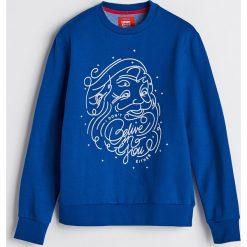 Bluza z motywem świątecznym - Niebieski. Niebieskie bluzy męskie Reserved. Za 79.99 zł.