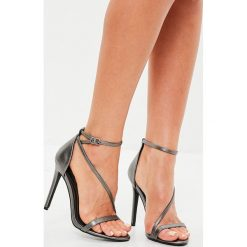 Missguided - Sandały. Różowe sandały damskie Missguided, z materiału. W wyprzedaży za 79.90 zł.