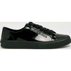 Calvin Klein Jeans - Tenisówki. Czarne trampki i tenisówki damskie Calvin Klein Jeans, z jeansu. Za 359.90 zł.