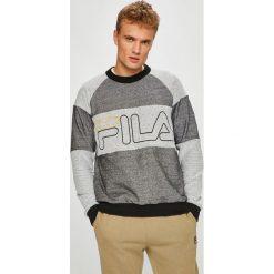 Fila - Bluza. Szare bluzy męskie Fila, z aplikacjami, z bawełny. W wyprzedaży za 299.90 zł.