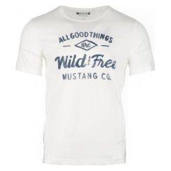 Mustang T-Shirt Męski Printed Xxl Kremowy. Białe t-shirty męskie Mustang, z nadrukiem. Za 79.00 zł.
