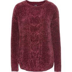 Sweter z szenili bonprix czerwony klonowy. Swetry damskie marki KALENJI. Za 79.99 zł.