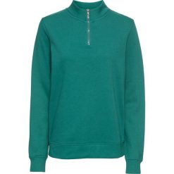 Bluza z zamkiem, długi rękaw bonprix dymny zielony. Bluzy damskie marki KALENJI. Za 54.99 zł.