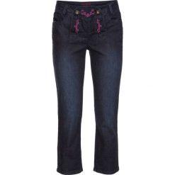 Dżinsy ludowe 3/4 bonprix ciemny denim. Jeansy damskie marki bonprix. Za 49.99 zł.