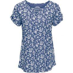 T-shirt z nadrukiem, krótki rękaw bonprix indygo. T-shirty damskie marki DOMYOS. Za 34.99 zł.
