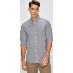 Tommy Hilfiger - Koszula. Szare koszule męskie Tommy Hilfiger, w kratkę, z bawełny, button down, z długim rękawem. Za 269.90 zł.