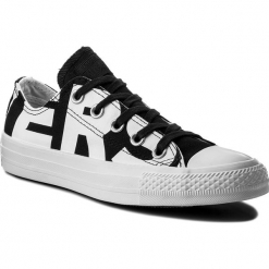 Trampki CONVERSE - Ctas Ox 159618C Black/White/White. Białe trampki męskie Converse, z gumy. W wyprzedaży za 199.00 zł.