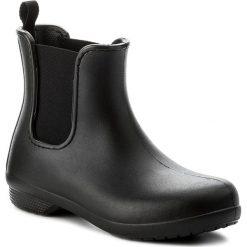 Kalosze CROCS - Freesail Chelsea Boot W 204630 Black/Black. Czarne kozaki damskie Crocs, z materiału. W wyprzedaży za 169.00 zł.