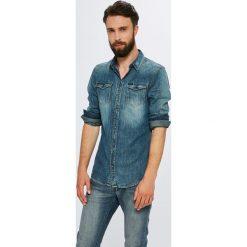 Guess Jeans - Koszula. Szare koszule męskie Guess Jeans, z bawełny, z klasycznym kołnierzykiem, z długim rękawem. Za 399.90 zł.