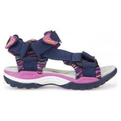 Geox Sandały Dziewczęce Borealis 33 Niebieski. Niebieskie sandały dziewczęce Geox, z materiału. W wyprzedaży za 169.00 zł.