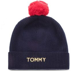Czapka TOMMY HILFIGER - Swap Your Pompom Bea AW0AW06026 413. Niebieskie czapki i kapelusze damskie Tommy Hilfiger, z bawełny. Za 279.00 zł.