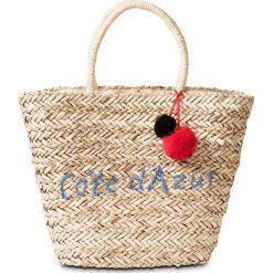 Torba plażowa shopper bonprix naturalno-lazurowy. Brązowe torebki shopper damskie bonprix. Za 59.99 zł.