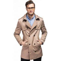 Płaszcz ALVARO PSES000058. Brązowe płaszcze męskie Giacomo Conti, na lato, z bawełny, eleganckie. Za 699.00 zł.