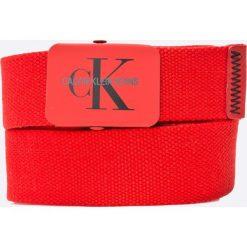 Calvin Klein Jeans - Pasek. Czerwone paski damskie Calvin Klein Jeans, w paski, z jeansu. W wyprzedaży za 139.90 zł.