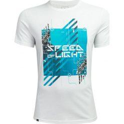 T-shirt męski TSM607 - biały - Outhorn. Białe t-shirty męskie Outhorn, z bawełny. W wyprzedaży za 29.99 zł.