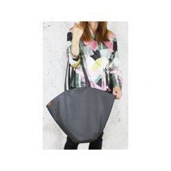 Shelly bag grafitowa torba na ramię z zamkiem Vegan. Szare torby na ramię damskie Hairoo. Za 180.00 zł.