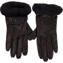 Rękawiczki Damskie UGG - W Classic Leather Logo Glove 17440  Black. Czarne rękawiczki damskie UGG, ze skóry. Za 519.00 zł.