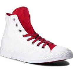 Trampki CONVERSE - Ctas Hi 160466C White/Gym Red/Navy. Białe trampki męskie Converse, z gumy. W wyprzedaży za 219.00 zł.