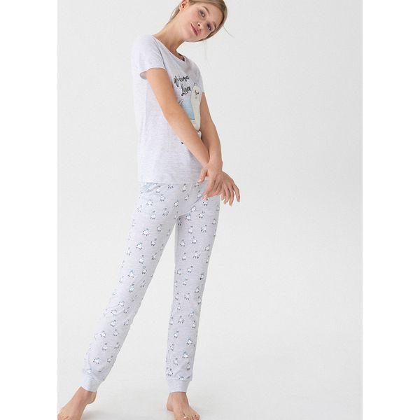 f1fe18622c1331 Dwuczęściowa piżama z lamą - Jasny szar - Piżamy damskie marki House ...
