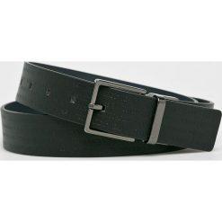 Trussardi Jeans - Pasek skórzany. Czarne paski damskie TRUSSARDI JEANS, w paski, z jeansu. W wyprzedaży za 239.90 zł.