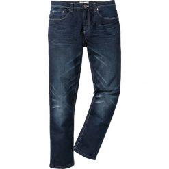 Dżinsy dresowe Regular Fit Straight bonprix ciemnoniebieski. Jeansy męskie marki bonprix. Za 109.99 zł.