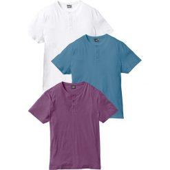 T-shirt (3 szt.) bonprix jagodowy + niebieski dżins + biały. T-shirty męskie marki Giacomo Conti. Za 83.97 zł.