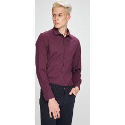 Trussardi Jeans - Koszula. Brązowe koszule męskie TRUSSARDI JEANS, z bawełny, z klasycznym kołnierzykiem, z długim rękawem. W wyprzedaży za 299.90 zł.