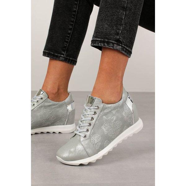 szare sneakersy jezzi na ukrytym koturnie sznurowane asa170 1