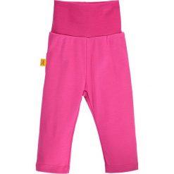 Spodnie w kolorze różowym. Spodenki niemowlęce Steiff, z aplikacjami, z bawełny. W wyprzedaży za 32.95 zł.