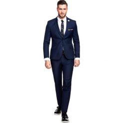 Garnitur LEONARDO GAGS000055. Niebieskie garnitury męskie Giacomo Conti, z tkaniny. Za 599.00 zł.