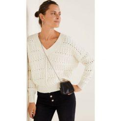 Mango - Sweter Limonada. Szare swetry damskie Mango, z bawełny. Za 139.90 zł.