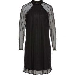 Sukienka bonprix czarny. Czarne sukienki damskie bonprix, ze stójką. Za 149.99 zł.