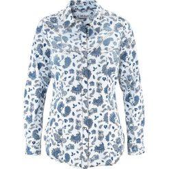 Koszula dżinsowa bonprix biały z nadrukiem. Koszule damskie marki SOLOGNAC. Za 49.99 zł.