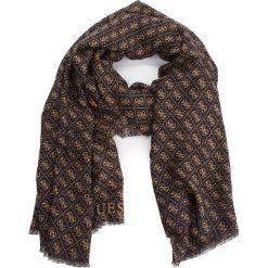 Szal GUESS - AW7952 POL03  BRO. Brązowe szaliki i chusty damskie Guess, z materiału. W wyprzedaży za 149.00 zł.