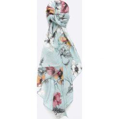 Answear - Szal. Szare szaliki i chusty damskie ANSWEAR, w kwiaty, z tkaniny. W wyprzedaży za 29.90 zł.