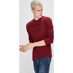 Trussardi Jeans - Longsleeve. Szare bluzki z długim rękawem męskie TRUSSARDI JEANS, z aplikacjami, z bawełny, z okrągłym kołnierzem. W wyprzedaży za 299.90 zł.