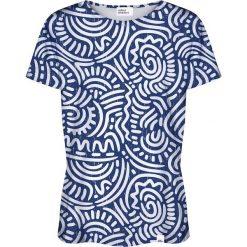 Colour Pleasure Koszulka damska CP-030 186 biało-niebieska r. XXXL/XXXXL. T-shirty damskie Colour Pleasure. Za 70.35 zł.