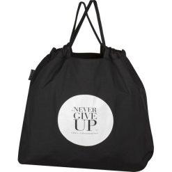 Torba składana Never Give Up. Czarne torebki shopper damskie Healthy Plan by Ann. Za 99.00 zł.