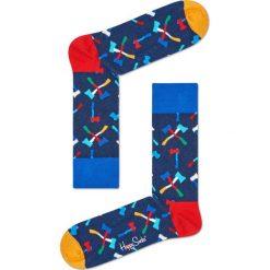 Happy Socks - Skarpety Axe. Niebieskie skarpety męskie Happy Socks, z bawełny. Za 39.90 zł.