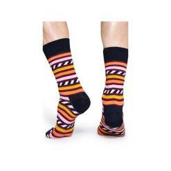 Skarpetki Happy Socks  SAS01-4000. Szare skarpety męskie Happy Socks, z bawełny. Za 24.43 zł.