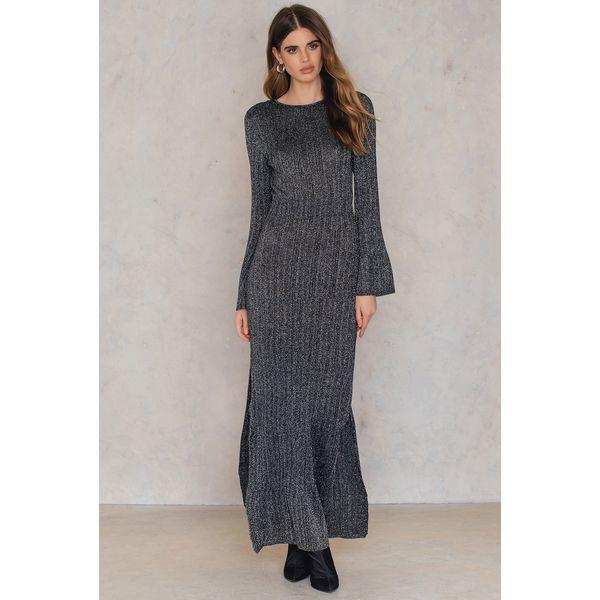4987b85e50a166 Keepsake Sukienka Maxi Reflections Knit - Black,Multicolor,Silver ...