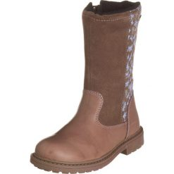 Skórzane kozaki w kolorze brązowym. Buty zimowe dziewczęce Zimowe obuwie dla dzieci. W wyprzedaży za 172.95 zł.