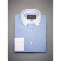 Bawełniana koszula slim fit - Niebieski. Koszule męskie marki Giacomo Conti. W wyprzedaży za 79.99 zł.