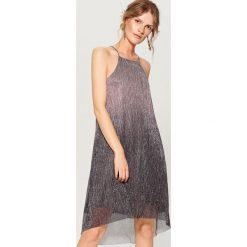 Sukienka mini z efektem ombre - Jasny szar. Szare sukienki damskie Mohito. W wyprzedaży za 79.99 zł.