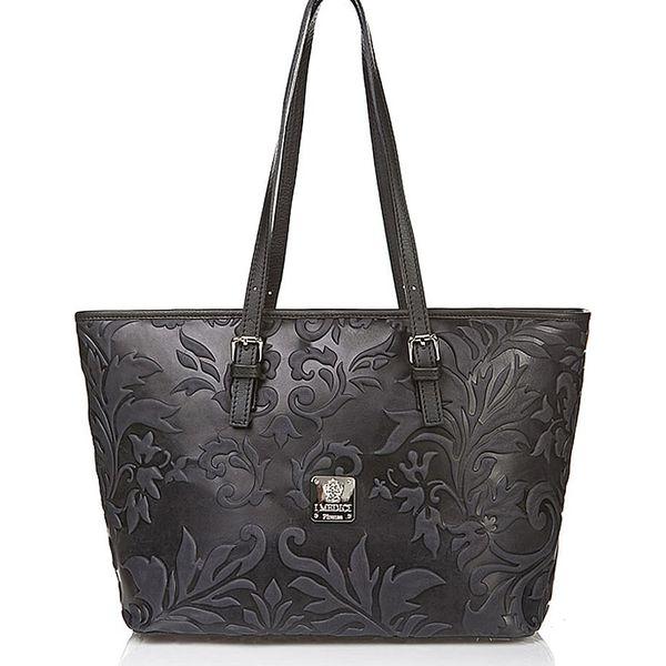 c699cfbfd992f Skórzana torebka w kolorze czarnym - 42 x 26 x 16 cm - Czarne torby ...