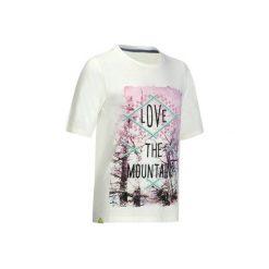 Koszulka Hike 500 dla dzieci. Białe bluzki dla dziewczynek QUECHUA, z tkaniny. W wyprzedaży za 14.99 zł.