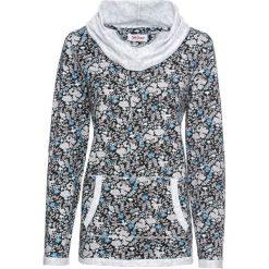 Bluza z lekkiego, lejącego materiału, długi rękaw bonprix czarny w kwiaty. Bluzy damskie marki KALENJI. Za 79.99 zł.