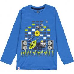 Koszulka w kolorze niebieskim. Zielone t-shirty dla chłopców marki Lego Wear Fashion, z bawełny, z długim rękawem. W wyprzedaży za 35.95 zł.